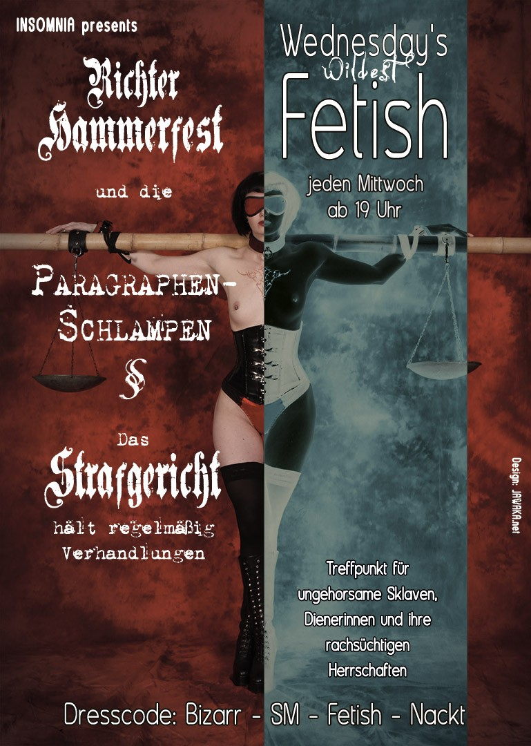 Flyer Wednesday's Wildest Fetish presents: Richter Hammerfest & die Paragraphenschlampen